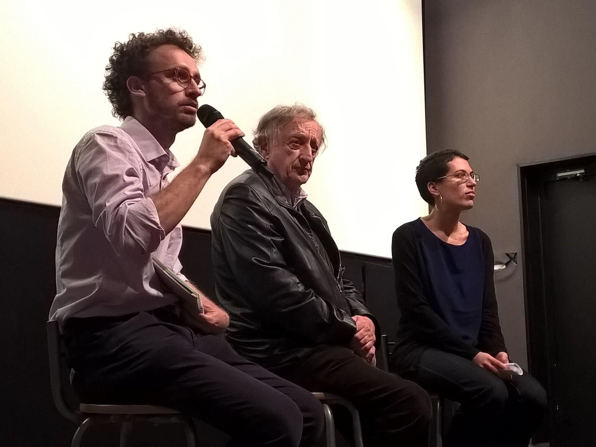 Andrea Paracchini (Journaliste à Altermondes), Bernard Ravenel (historien) et Mathilde Girardot (Catitas) - © FIFDH Paris