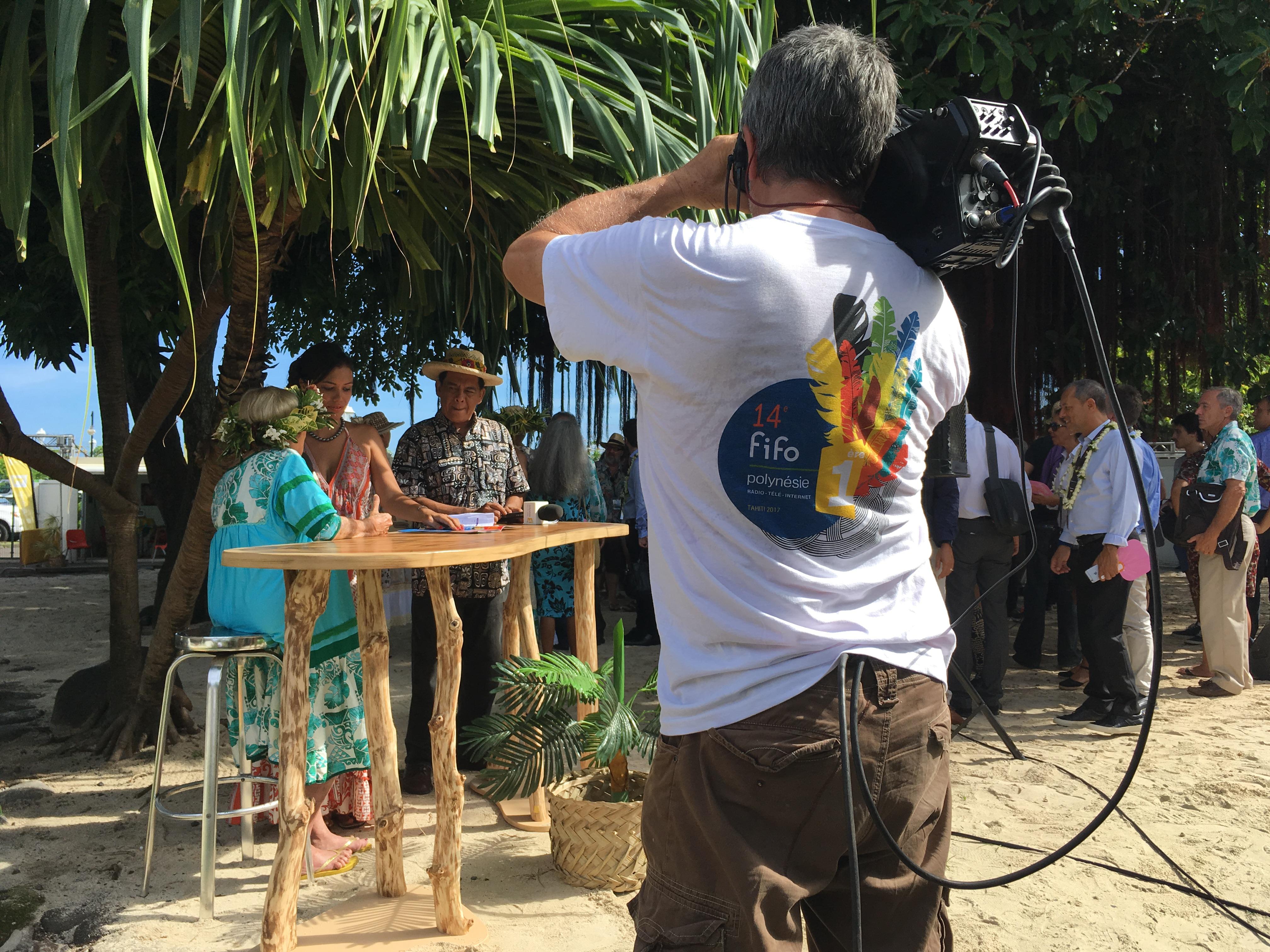 Polynésie 1ère à la cérémonie d'ouverture du FIFO © Cédric Mal