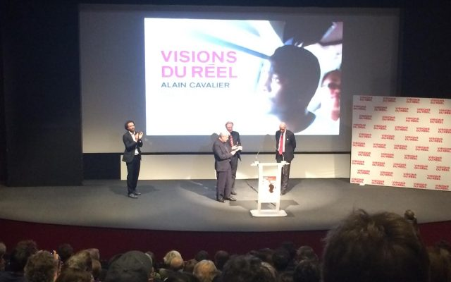 Alain Cavalier sur scène - © Fanny Belvisi